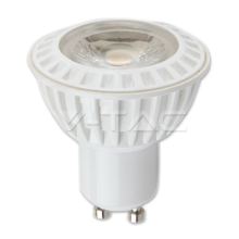 LED spuldze  - LED Spotlight - 6W GU10 White Plastic Premium Warm White 110°